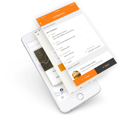 Food order receiving demo Android app for restaurant